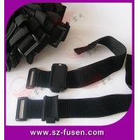 Quality Heavy Duty Velcro Straps Nylon / Polyester Elastic Tape With Buckle for sale