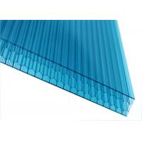 China Blue Hollow Honeycomb Polycarbonate Sheet Desity 1.2g / Cm3 Sound Insulation wholesale