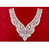 China Vintage Polyester V Neck Lace Collar Applique For Women Blouse Azo Free DTM Dyed wholesale