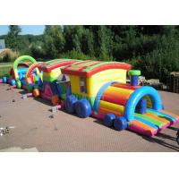 China Large Long Outdoor Obstacle Course For Kids Interactive Boot Camp wholesale
