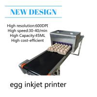 High Performace Egg Jet Printer With Computer Control Dedicated Shuttle Conveyor