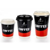 China Two Wall Paper Drinking Cup For Cafe Shop , Takeaway Coffee Cups With Lids wholesale
