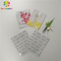 China Biodegradable Plastic Foil Bags Three Side Sealed Facial Mask Packaging For Cosmetic wholesale
