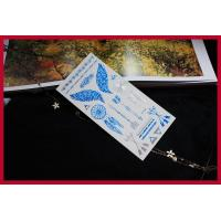 China Metallic flash temporary tattoo, temporary gold foil silver tattoo mixed color wholesale