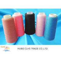 China Ring Spun Polyester Yarn For Ultrathin Fabrics , Colored Spun Polyester Sewing Thread wholesale
