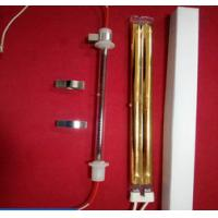 China high quality Gold-plated coating double-hole carbon fiber quartz heating element, red quartz carbon fiber heating tube on sale