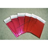 Lightweight Coral Metallic Bubble Mailers 215x330mm #F VMPET Flame Retardant for sale
