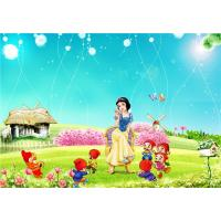China Eco Friendly Bamboo Fiber 3D Embossed Wall Panels Snow White Seven Dwarfs wholesale