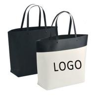 China Customized Logo Bucket Shape Paper Bag with Plastic Handle 250x270x100mm wholesale