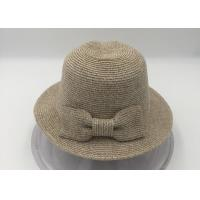 China Women's Pretty Vintage Foldable Straw Hat w/Large Accent Bowtie wholesale