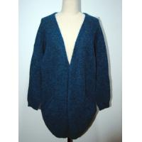 China Womens Knitted Cardigan Long Knitted Coat Open Front With Two Pocket wholesale