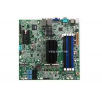 China 4 Gigabit LAN 4 SATA2.0 , 4 SATA3.0 network storage server Motherboard with Intel® Atom C2550 CPU wholesale