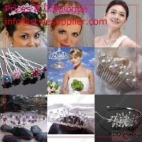 China Wedding Tiara, Bridal Tiara, Tiara Combs, Silver Tiara, Beaded Tiara Etc wholesale