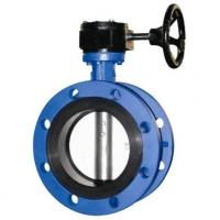 Quality 4 Inch Resilient Seated Butterfly Valves With Worm Gear / Double Flanged Butterfly Valve for sale