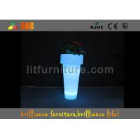 China Decorations Light Up Outdoor Plant Pots Waterproof With 4400 MAH Rechargeable Battery wholesale