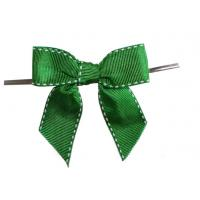 Quality tied Decorative ribbon bow tie for wedding with grosgrain , tie bow ribbon for sale