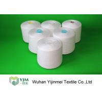 China 40s/2 40S 100 Spun Polyester Yarn Raw White With Dyeing Tube / Paper Cone on sale