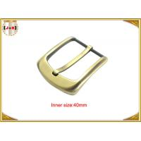 China 40mm Gold Custom Zinc Alloy Metal Pin Belt Buckle / Coat Belt Buckle Replacement wholesale