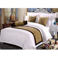 China Jacquard Premium Quality Hotel Bed Runners Sheet Sets Yellow wholesale