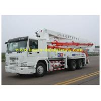 Quality 42m boom Concrete Pump Vehicle with HOWO Chassis and Pipe-valve for sale