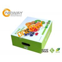 China Printed Packaging Boxes , Custom Printed Recyclable Farm Packing Paper Apple Box on sale