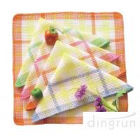 China One Side Soft Cotton Kitchen Tea Towels Multi Functional OEM / ODM Available wholesale