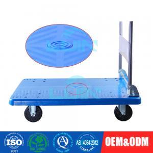 China Logistics transportation Plastic Platform Hand Truck With Metal and folding handle wholesale