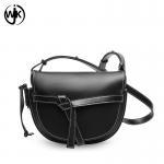 China Multi color designer crossbody bag factory new design real leather bag lady leather saddle bag wholesale