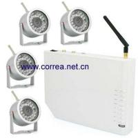 China 20.4GHz wireless quad receiver with wetherproof camera kits wholesale