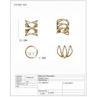 China Hot sale thin pave fashion rings in 925 sterling silver with 18k gold palted wholesale manufacturer wholesale