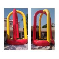 China Custom Printed Soft Inflatable Bungee Trampoline For Playground wholesale