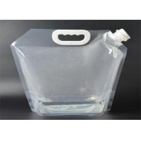 Buy cheap Fda Approved 5l Foldable Stand Up Plastic Spout Drinking Water Bags With Portable Handle/5 Liter/ 10 Liter Food-grade from wholesalers