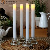 China Remote Control Taper Candles , Flameless Taper Candles With Timer wholesale