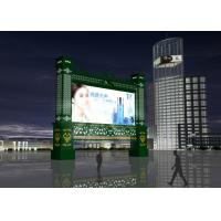 China Custom Outdoor Led Video Wall Screens , Led Moving Message Display With Light Emitting Materials wholesale
