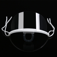 China Lightweight Droplets Prevention Transparent Plastic Face Mask wholesale