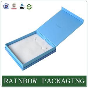 Quality Custom Size Sky Blue Jewelly Case , Grazioso Cardboard Box for Jewelly Box for sale