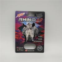 China Plastic Empty Medicine Bottles Male Enhancement Rhino 99 Pills Blister Card With Display Box wholesale
