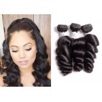China Double Weft Brazilian Virgin Loose Wave Hair , 9A Loose Wave Remy Hair wholesale