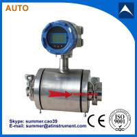 China Tri-clamp electro magnetic flow meter uesd for water/waste water/industry water/sewage wholesale