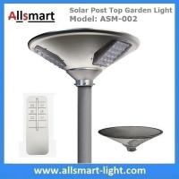 China 20W 2000lm Solar Post Top Garden Lights All In One Solar Pathway Garden Lamp with Post Pole for Driveway wholesale