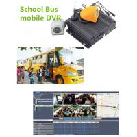 China Hybrid Four - In - One 4CH Vehicle Mobile Vehicle DVR For School Bus , 1080P Resolution wholesale