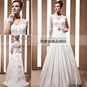 China gorgeous half sleeve scalariform wedding gowns 90029 wholesale