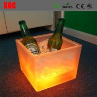 China Fashion Design Square LED Colorful Light Ice Bucket with IR remote wholesale