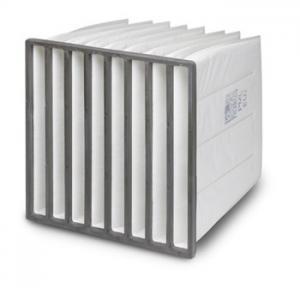 China ZS-F6-1300 High temperature medium effficiency fiberglass pocket filter wholesale