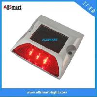 China Solar Road Studs ASD-007 3led Single Line Solar Road Cap Lights Solar Road Reflecting Marker Lights for Traffic Warning wholesale
