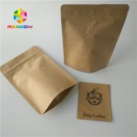 China Kraft Paper Custom Printed Stand Up Pouches Packaging For Coffee Beans 1kg 500g wholesale