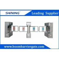 China 510mm Width Acrylic Turnstile Swing Barrier Gate , Pedestrian Access Control wholesale