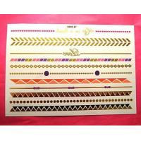 China Gold Metallic Temporary Flash Tattoos wholesale