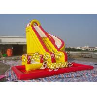 China Custom Inflatable AdultWater Slide With Swimming Pool , Inflatable Combo Water Slide wholesale