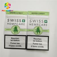 China Resealable Herbal Incense Packaging Plastic Pouch 3 Side Sealed With Zipper Tear Notches wholesale